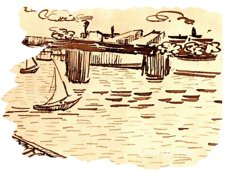 Bridge van gogh clipart #1