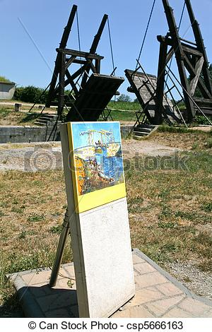 "Stock Photos of copy of Van Gogh picture and copy ""Langlois Bridge."