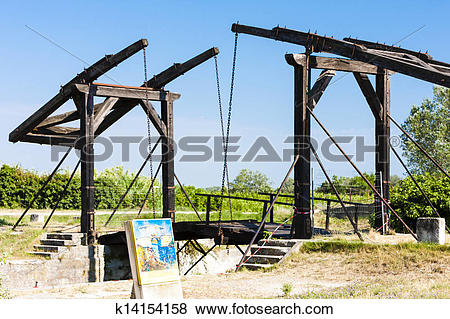 Pictures of Vincent van Gogh bridge near Arles, Provence, France.