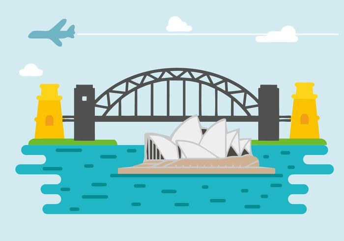 Free Sydney Harbour Bridge Vector.