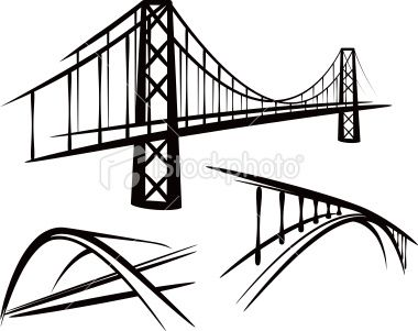 simple illustration with a set of bridges.