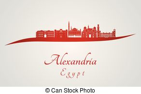 Vector Illustration of Bridgeport CT skyline in red.eps.