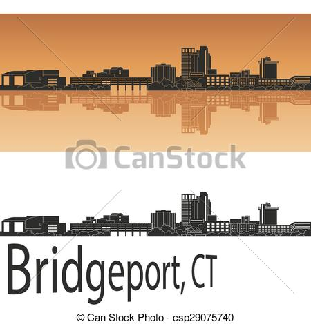 EPS Vector of Bridgeport, CT skyline.