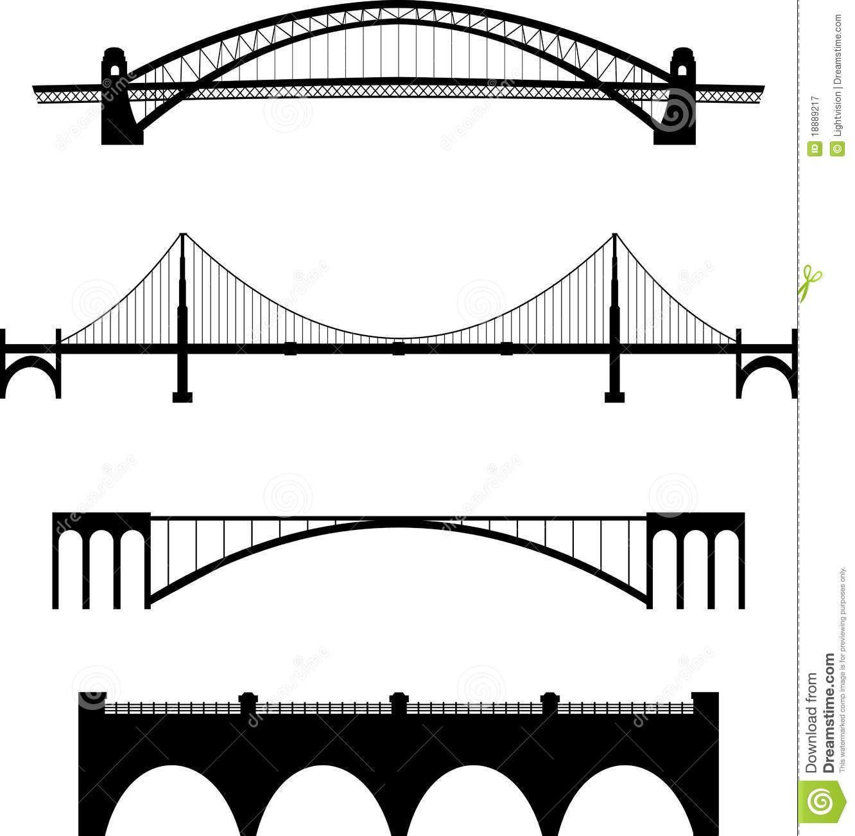 Arch Bridges Clipart.