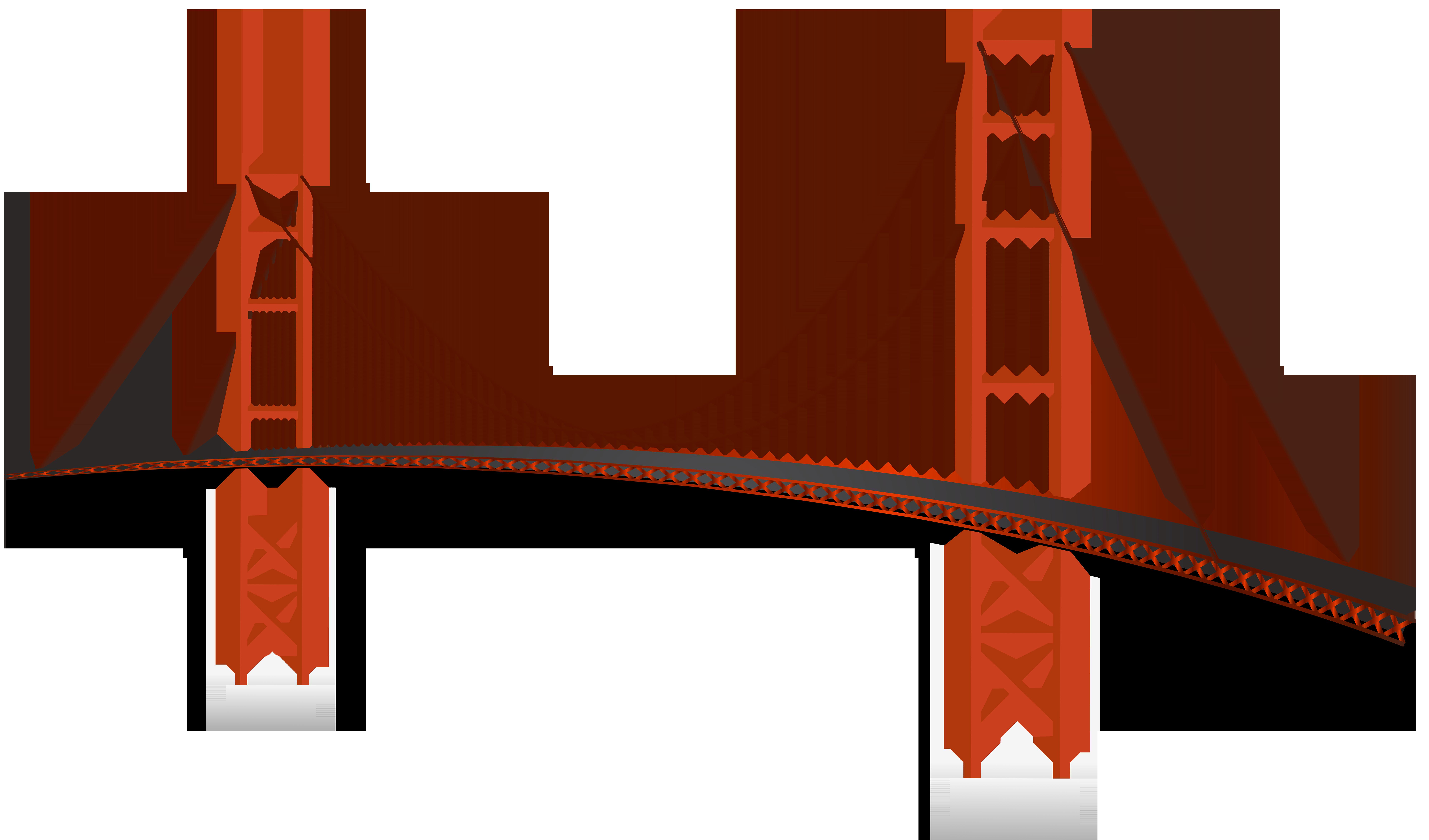 Golden Gate Bridge PNG Clip Art.