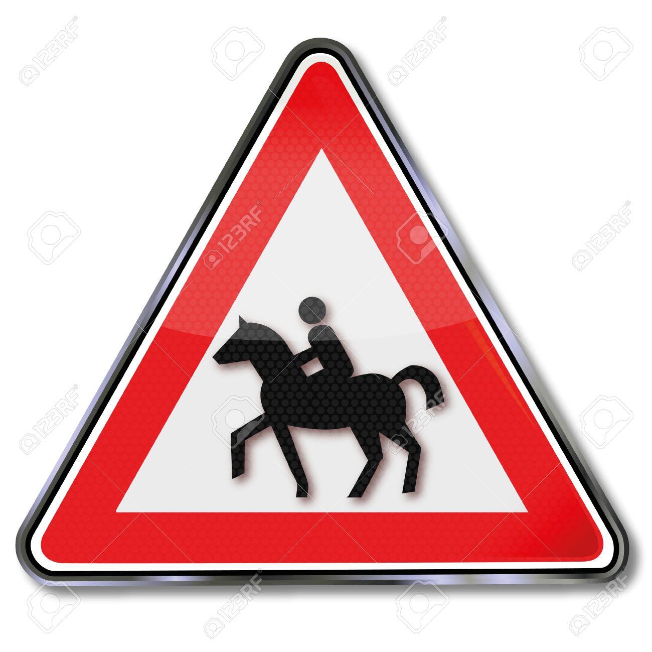 Traffic Sign Warning Bridleway Royalty Free Cliparts, Vectors, And.