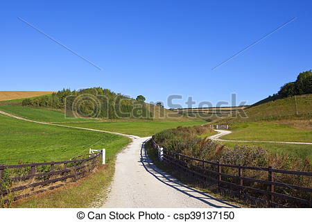Stock Images of chalky bridleway.
