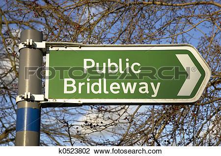Stock Photo of Public Bridleway k0523802.