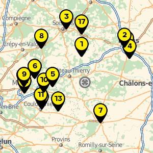 Déchetterie à Condé en Brie.