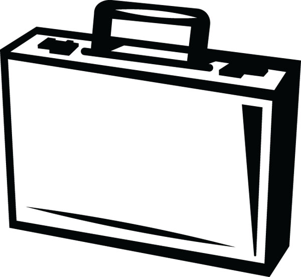 Briefcase Clip Art For Business & Office Custom Products.