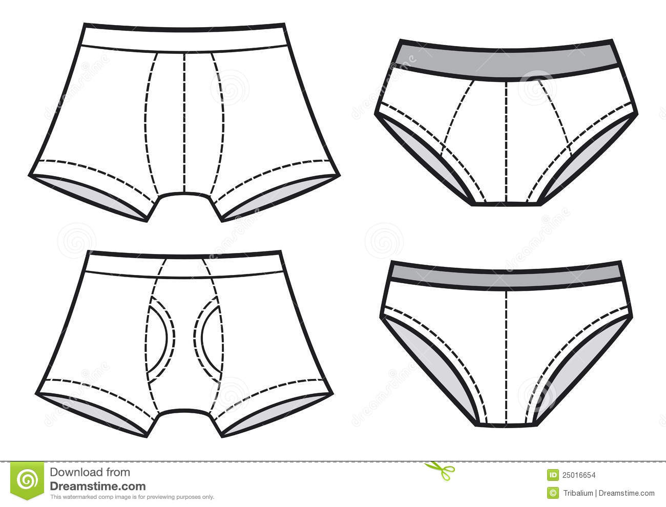 Boxer Brief Clipart.