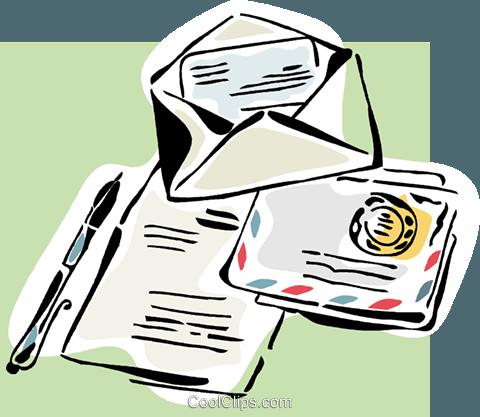 Clipart brief schreiben.