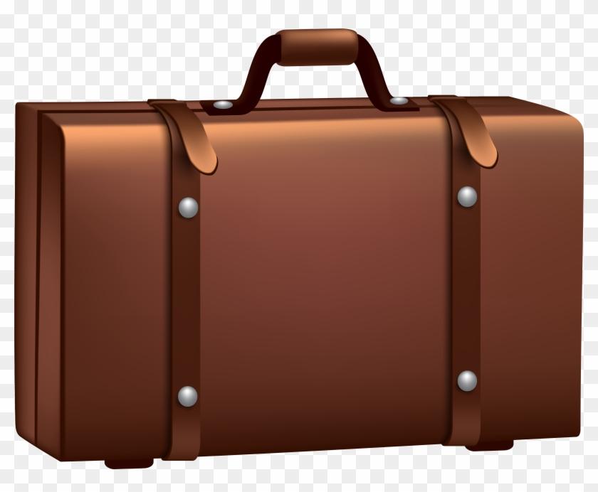 Brown Suitcase Png Clip Art Image.