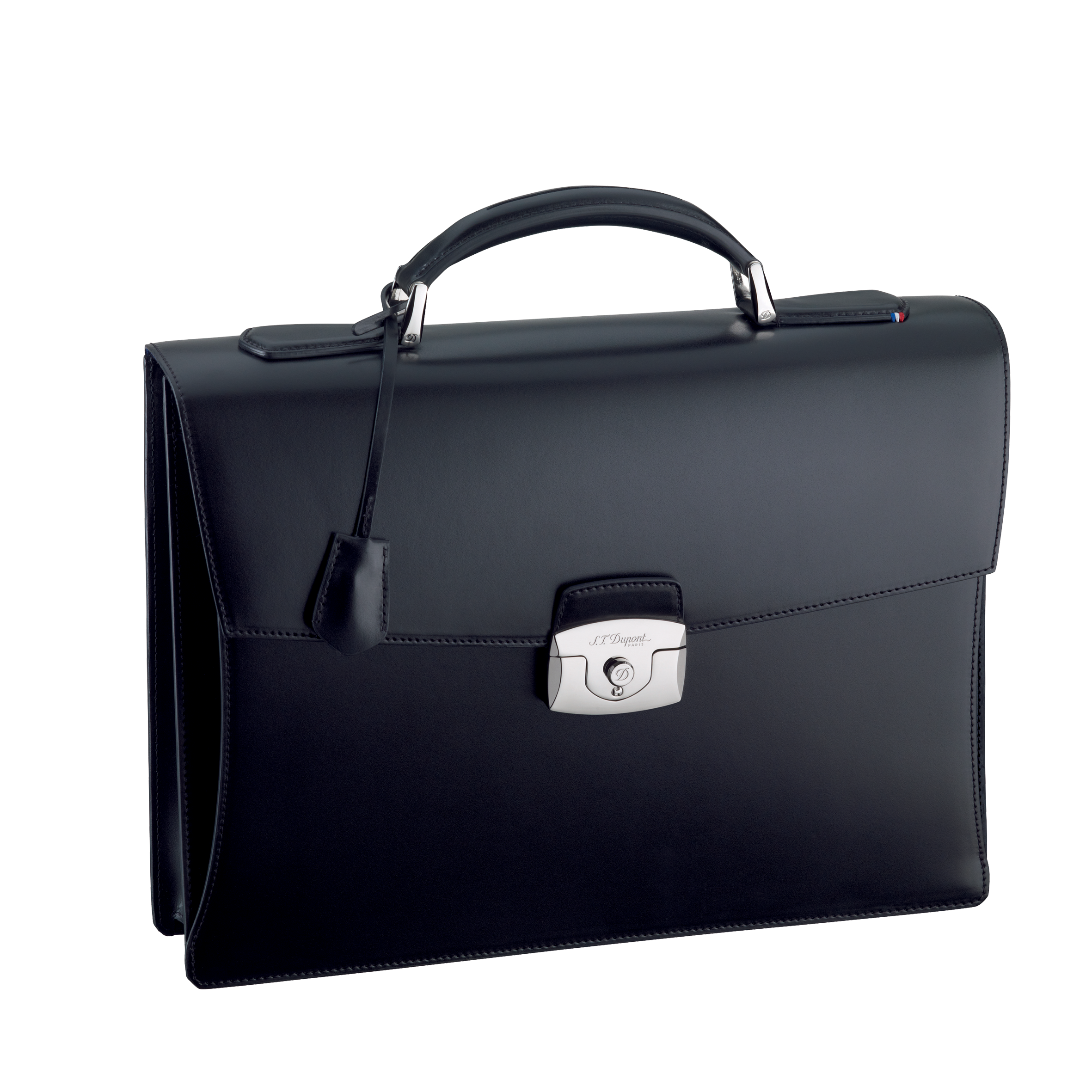 One gusset Briefcase, Line D Leather.