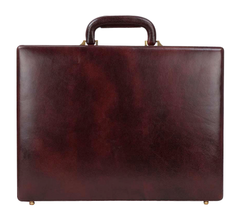 Leather Briefcase PNG Transparent Image.