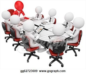 Executive meeting clipart.