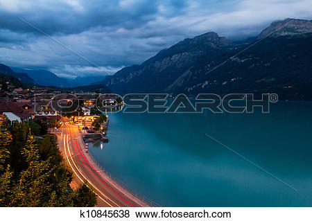 Pictures of Brienz at night k10845638.