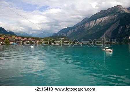 Stock Photography of Lake Brienz, Berne Canton, Switzerland.