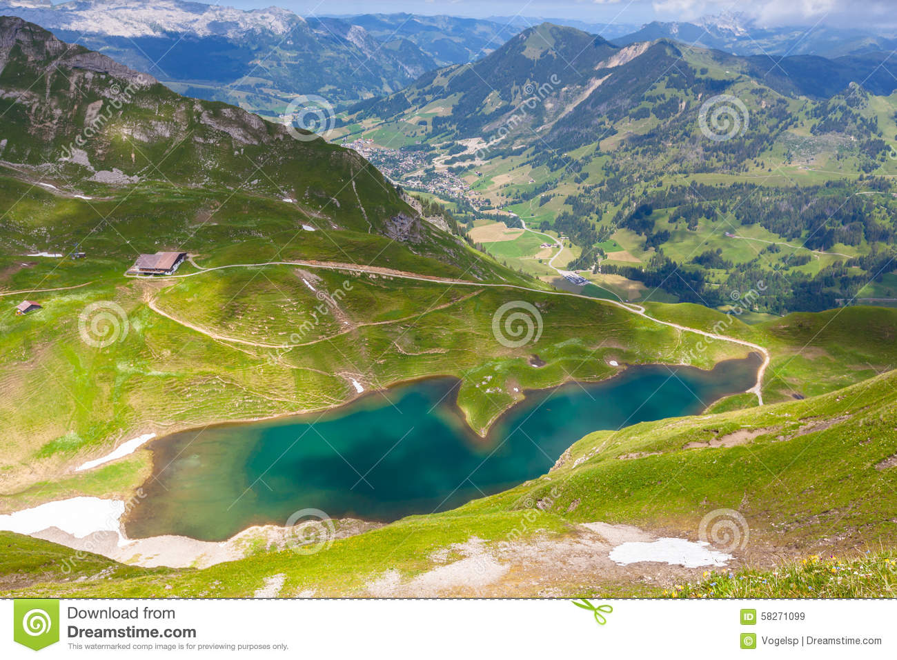Aerial View Of Eisee Near Brienzer Rothorn Stock Photo.