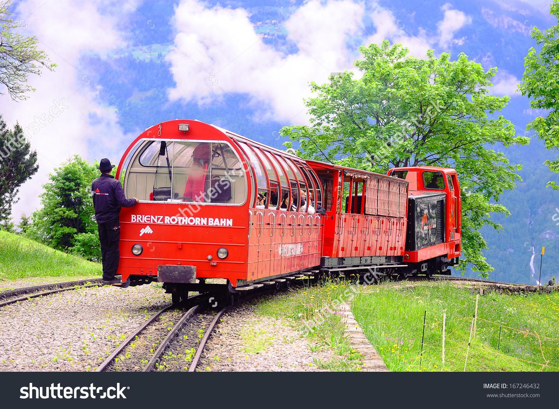 Planalp Switzerland June 12 Train Rothorn Stock Photo 167246432.