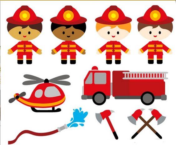 clip art fire brigade.
