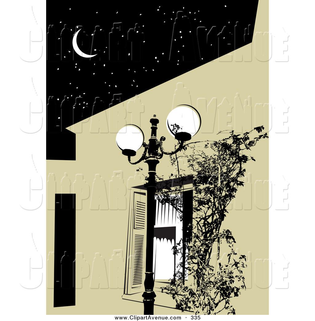 Clip Art Night Dark And Bright Clipart.
