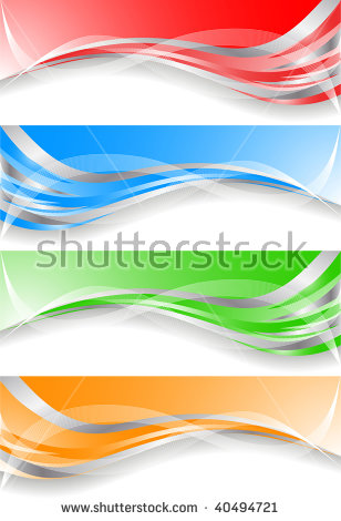 Soft Bright Colorful Web Border Layout Stock Vector 291938312.