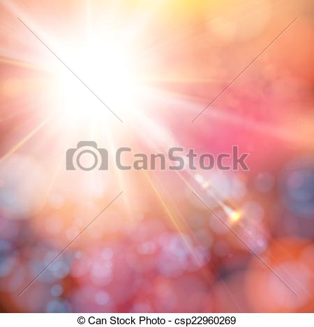 Clip Art Vector of Bright shining sun with lens flare. Soft.