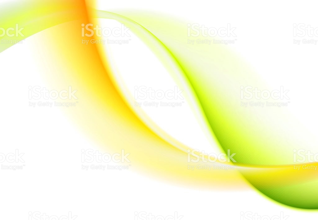 Abstract Bright Green Yellow Soft Waves stock vector art 609044148.