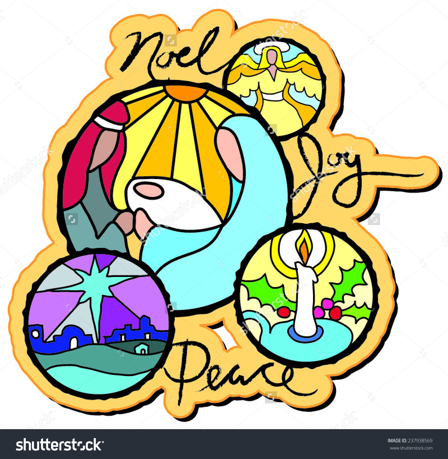 Nativity Scene Mary Joseph Baby Jesus Stock Vector 237938569.