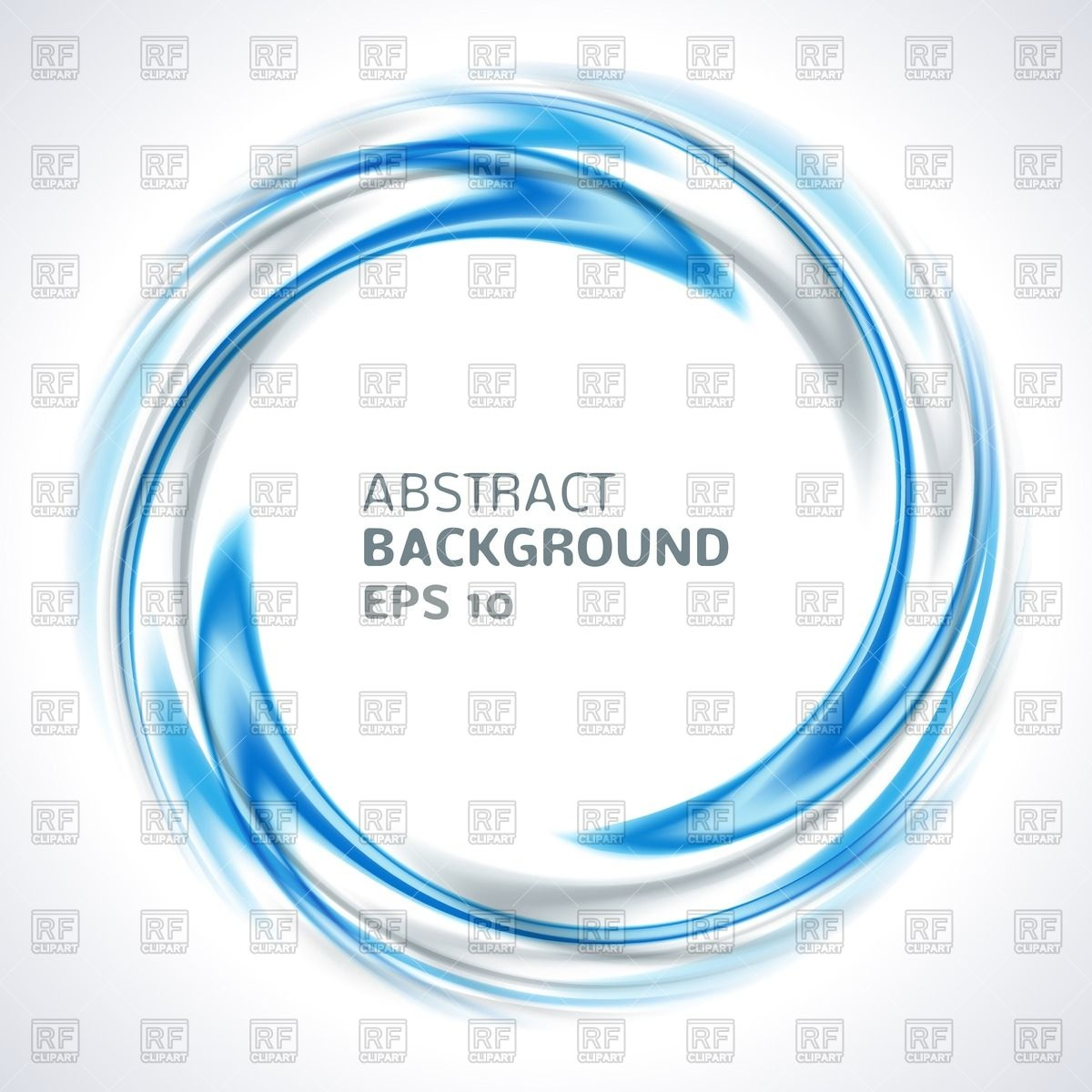 Abstract blue and silver swirl circle Vector Image #41070.