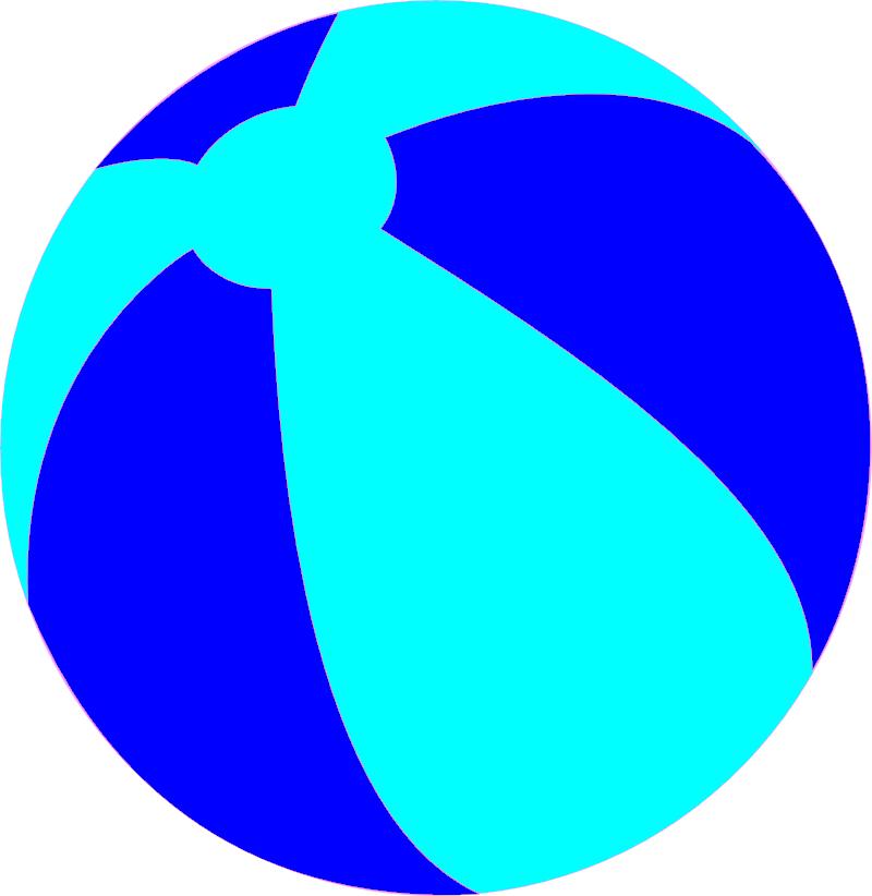 Strandball Beachball Ball Bright Blue.
