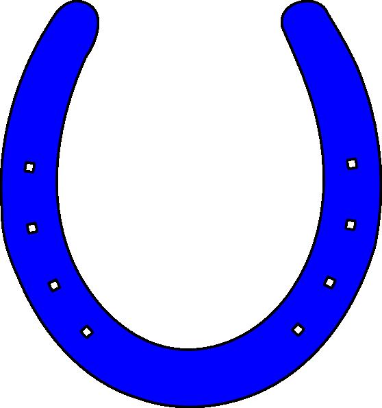 Bright Blue Horseshoe Clip Art at Clker.com.