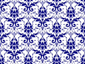 Damask blue clipart.