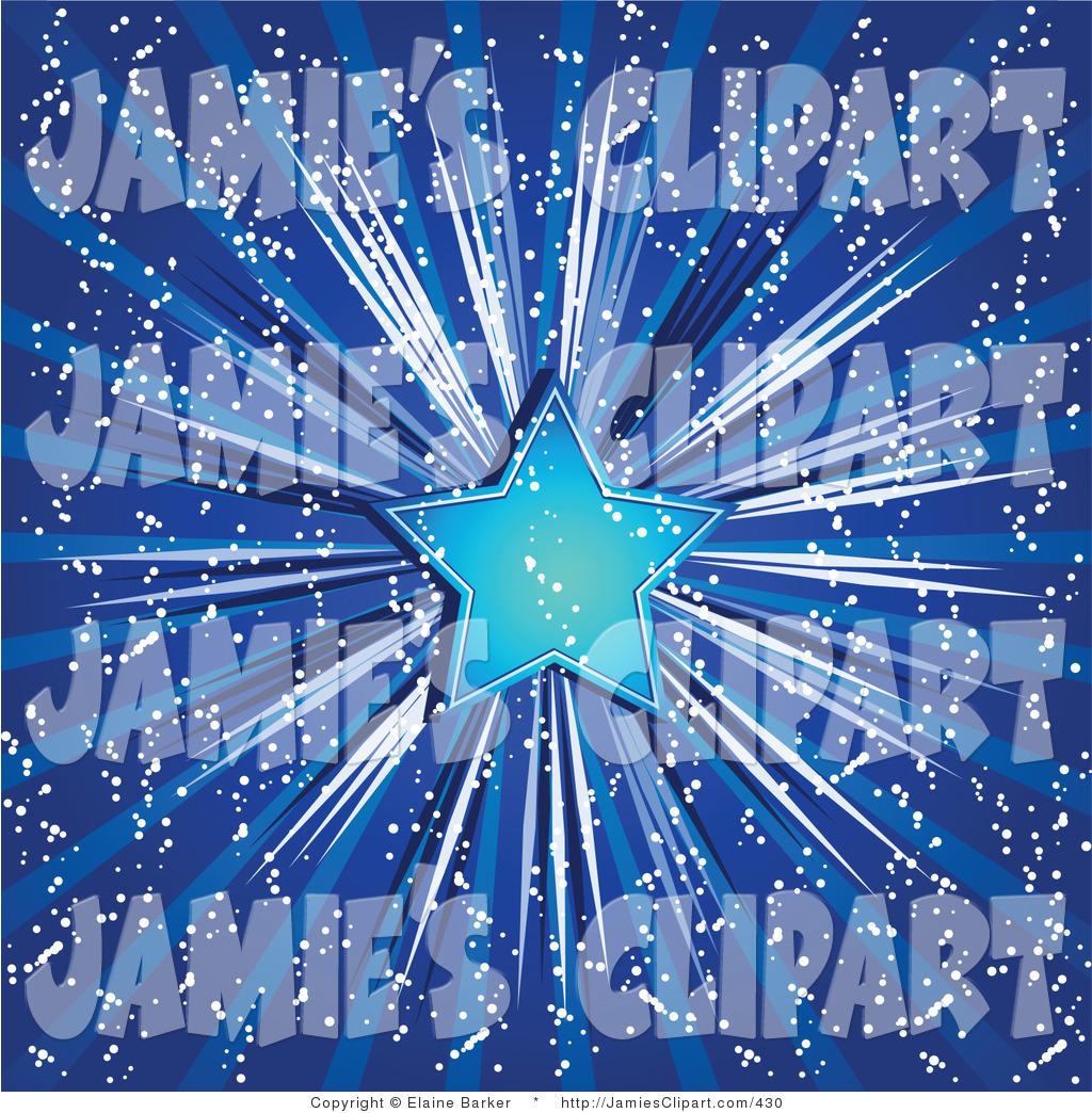 Blue Christmas Star Clipart.