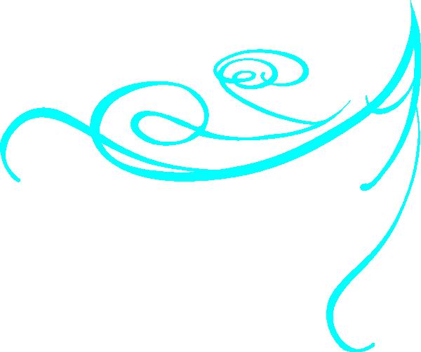 Decorative Swirl Bright Blue Clip Art at Clker.com.
