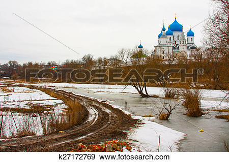 Stock Photograph of Winter.Beautiful Orthodox churches in Russia.