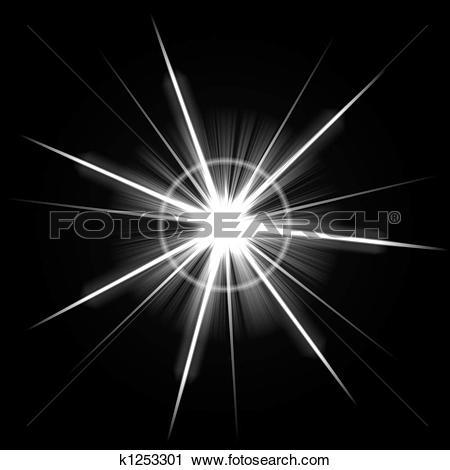 Clipart of Bright Lens Flare Burst k1253301.