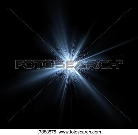 Stock Illustration of Bright light burst illustration k7888575.