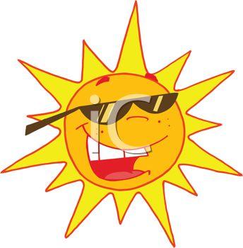 Bright Sunglasses Clip Art.
