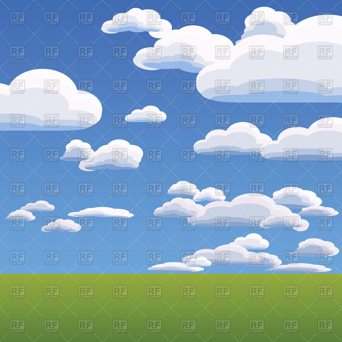 Heavenly Clouds Clipart.