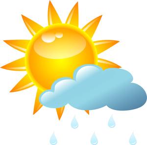 Rain Shower Clipart Image.