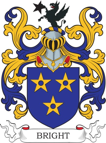 Bright Coat of Arms Meanings and Family Crest Artwork.