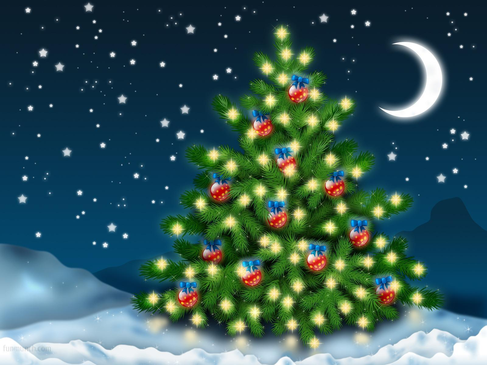 bright colored retro christmas tree clipart - Clipground