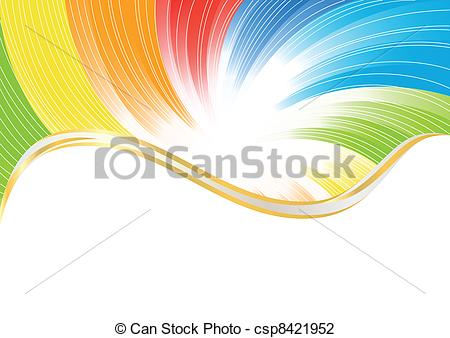 Vector Illustration of Vector abstract background in bright color.