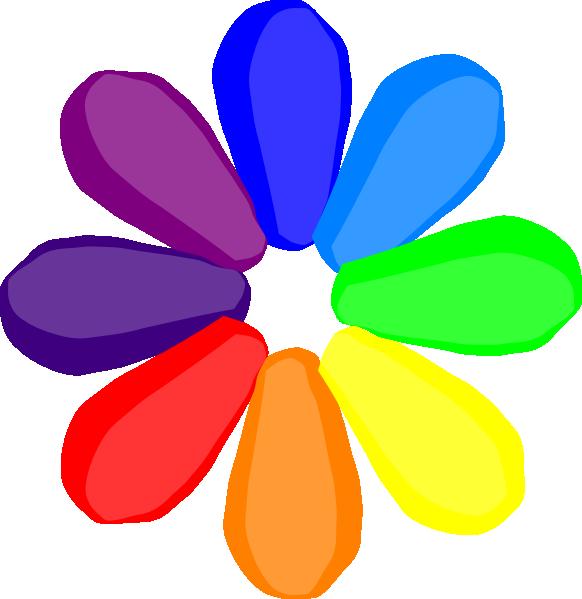 Bright Colorful Daisy Clipart.