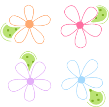 Bright colors flower clipart clipground spring flowers clip art mightylinksfo