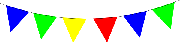 Rainbow Bunting Bright Clip Art at Clker.com.