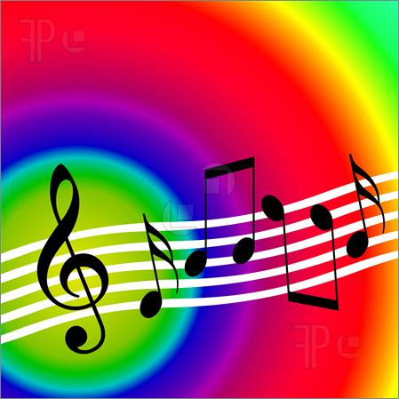 of Bright colorful music.