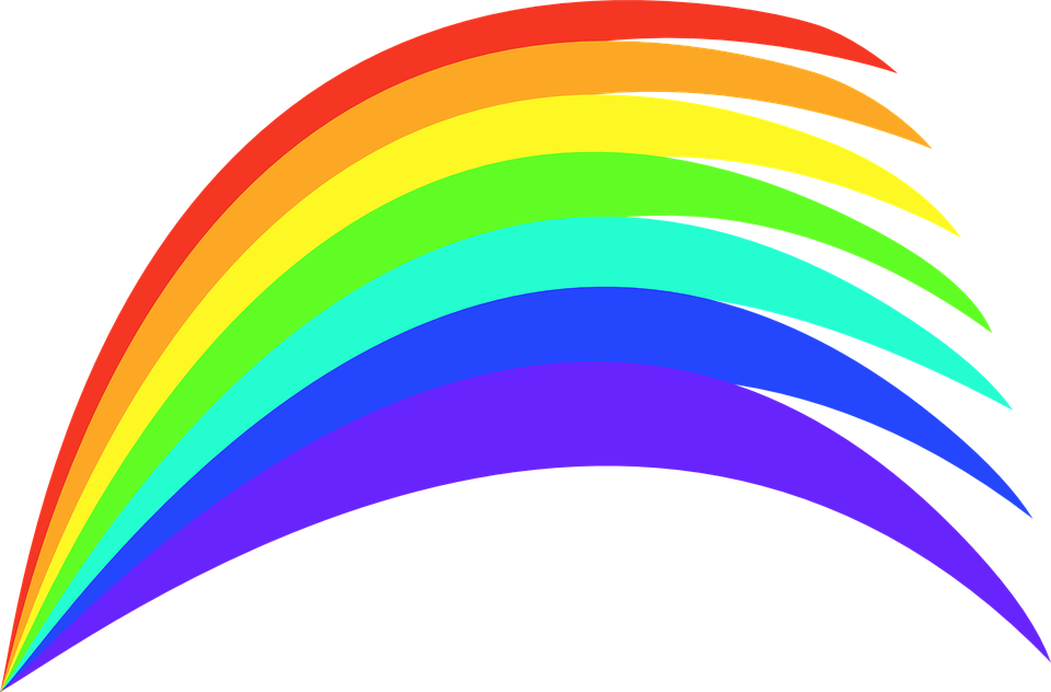 Free vector graphic: Rainbow, Colours, Colourful, Paints.